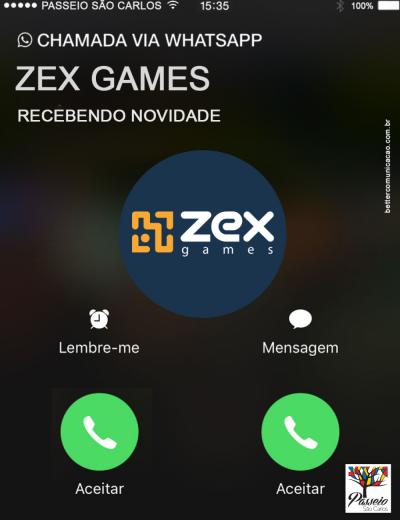 em breve Zex Games - Passeio São Carlos