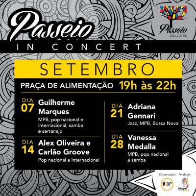 Passeio in Concert - Setembro - Passeio São Carlos